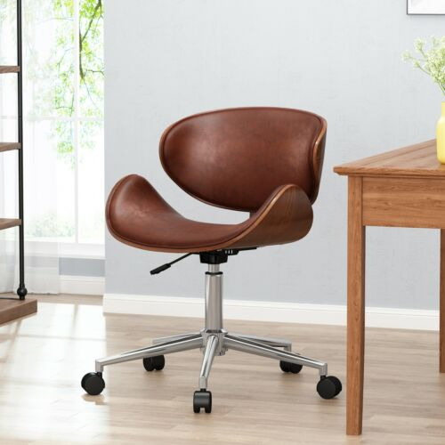 Clyo Mid-Century Modern Upholstered Swivel Office Chair Furniture