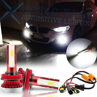 Super White 100W LED Fog Light Bulbs w/ Decoder for BMW F10 F11 F25 F30 F31 E48