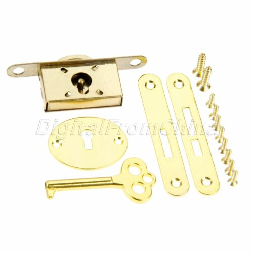 Classical Cabinet Wardrobe Drawer Jewelry Box Hasps Lock With Key Set Hardware