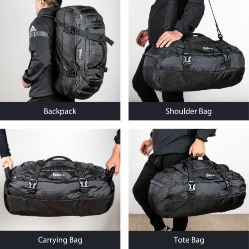 "Ubon Men Large Travel Duffle Bag Backpack Sport Gym Bag Carry On Luggage 55"" 65"""