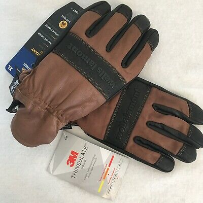 Wells Lamont Hydra Hyde Thermal Work Gloves Leather Waterproof Xl Thinsulate