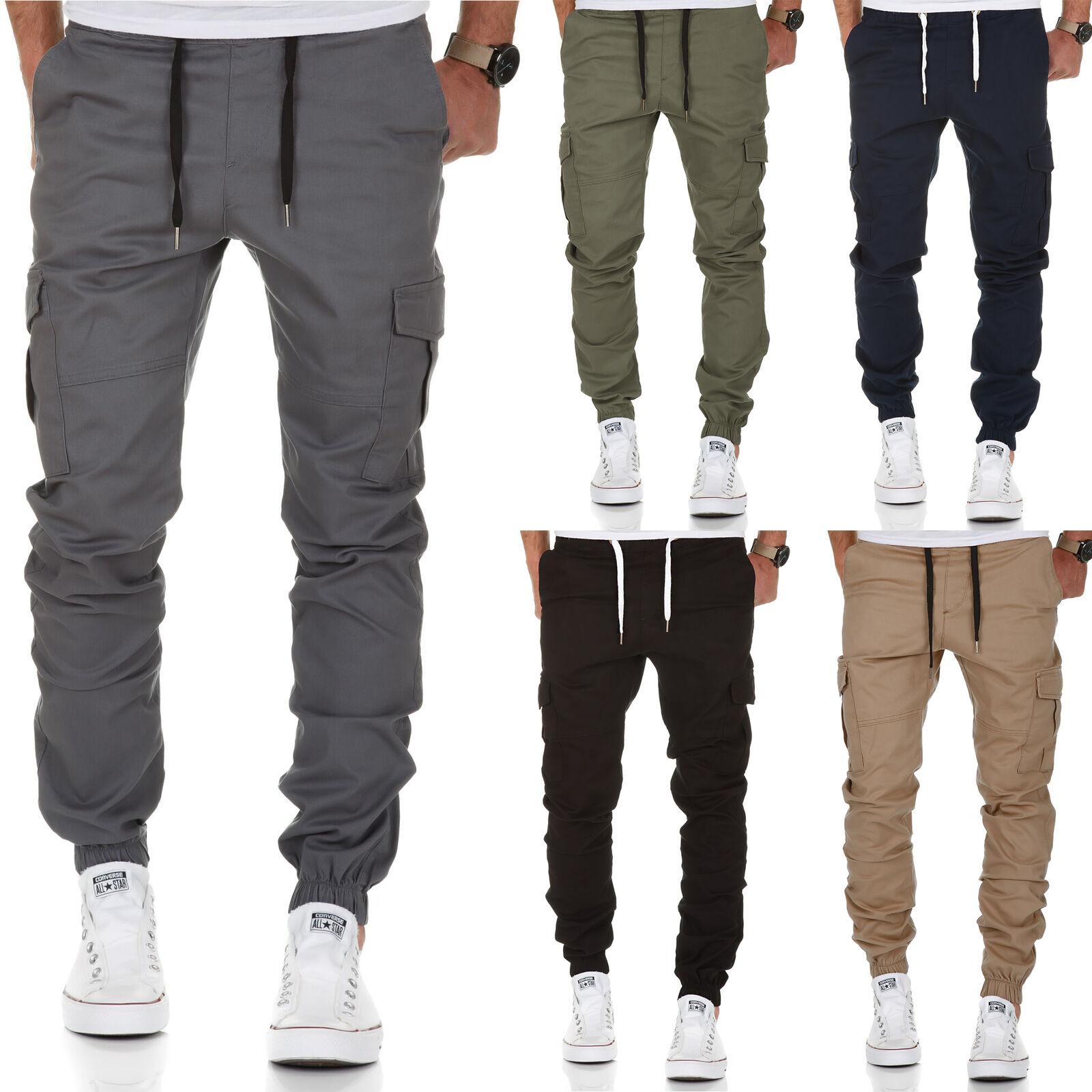 a3359b356ad8d1 Herren Cargo Jogger Chino Stretch Hose Jogg Jeans Sweatpants Sweathose 7005