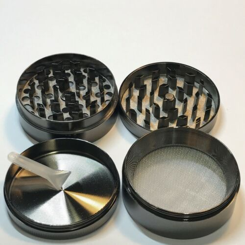 2 Inch 4 Pieces Metal Herbal Herb Spice Tobacco Grinder Chromium Crusher