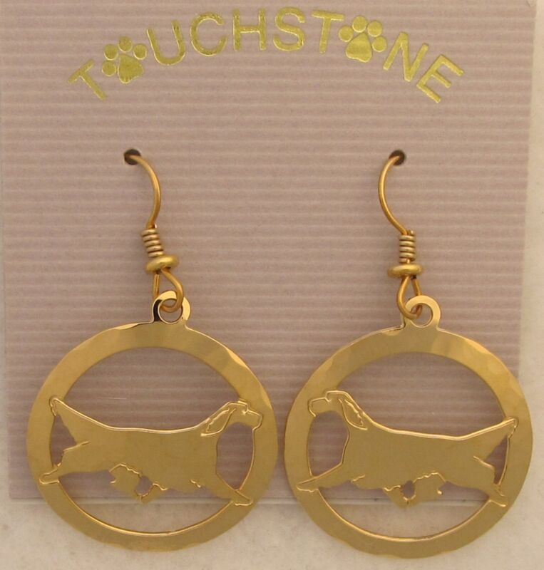 English Setter Jewelry Wire Earrings by Touchstone Dog Designs