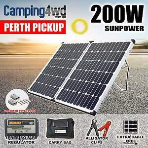 200W Folding Solar Panel Kit 12V + Regulator + Bag Caravan Campin Wangara Wanneroo Area Preview