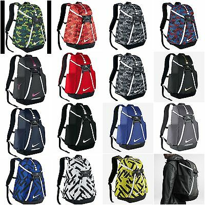 Nike Hoops Elite Pro OR Max Air Team 2.0 Graphic Basketball Backpack Black Grey