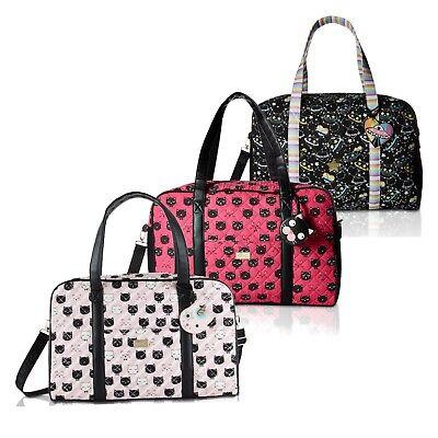 Luv Betsey Johnson Cruisn Large Cotton Carry On Weekender Travel Duffel Bag