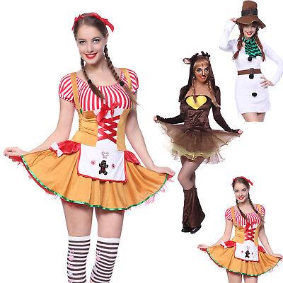 Sexy Klamotten Kostüm Weihnachtskleid Dame Karneval Party Verkleidung - Weihnachts Geschenk Kostüm