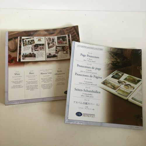 Creative Memories 12 X 12 15 White Pages Sheets and 15 Page Protectors 2004