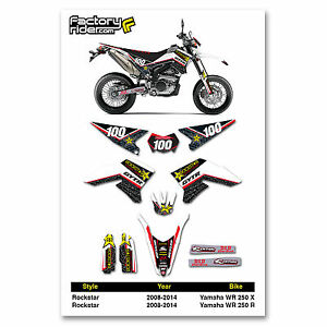 2008-2014 YAMAHA WR 250 X & R Rockstar Graphics Kit Motocross Graphics Enjoy