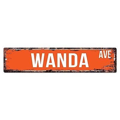 SWNA0087 WANDA AVE Street Chic Sign Home Store Wall Decor Birthday Gift](Birthday Decoration Stores)