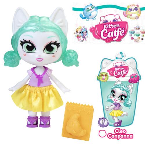 Jakks Series 4 Boba CLEO CONPANNA Kitten Catfe Doll Teal Green Purrista Girls