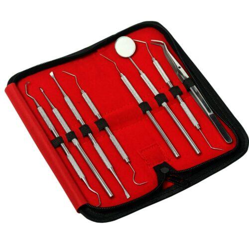 JAPANESE Stainless Steel Dental Set Dentist Teeth Kit Oral Clean Probe Tools