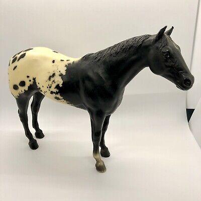 Breyer Horse Black White Standing Stallion 8 inch VINTAGE Spotted
