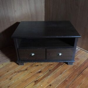 TV Stand w Drawers.  Solid wood. Dark Brown. Good condition.