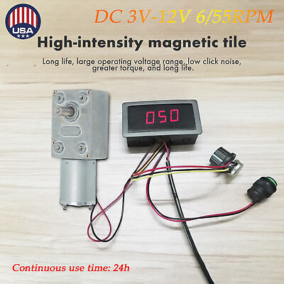 Dc 3v-12v 655rpm High Torque Turbo Worm Electric Geared Motor Low Speed 3w