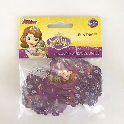 Sofia The First Cupcake Toppers (SOFIA THE FIRST New Cupcake Fun Pix Toppers Wilton 24 count )