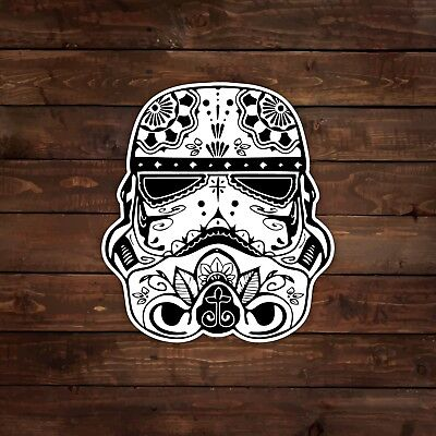 Stormtrooper [Black & White] (Sugar Skull / Star Wars) Decal/Sticker