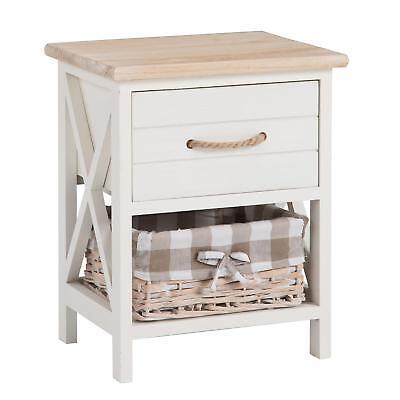 Weiße Konsole Schrank (Nachttisch Nachtschrank Nachtkommode Konsole in weiß Landhaus Shabby Vintage)