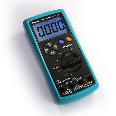 Digital True Rms Multimeter Dc Ac Electric Tester Lcd Backlight With Buzzer