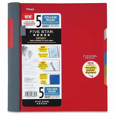 Mead Five Star Notebook - 200 Page - College Ruled - 1 Each Assorted Mea06326