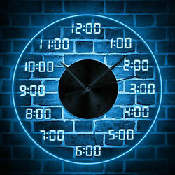 12'' LED Disc Mute USB Wall Clock Large Number Digital W/ Remote Controller