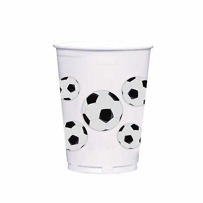 8pc Plastic Football Soccer UEFA World Cup Party Cups Tableware Partyware Drinks
