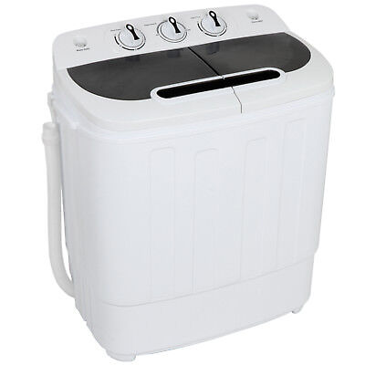 Washer Machine Twin Tub - 8lbs Washing and 5lbs Spin Cycle, 1500 RPM Fast Clean