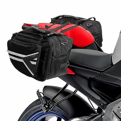 Saddle Bags Expandable Throw Over Panniers Saddlebag Motorcycle Travel Luggage