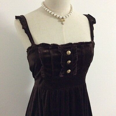 LIZ LISA Dress Velour Dark Brown Kawaii Japanese Fashion Gyaru #11606