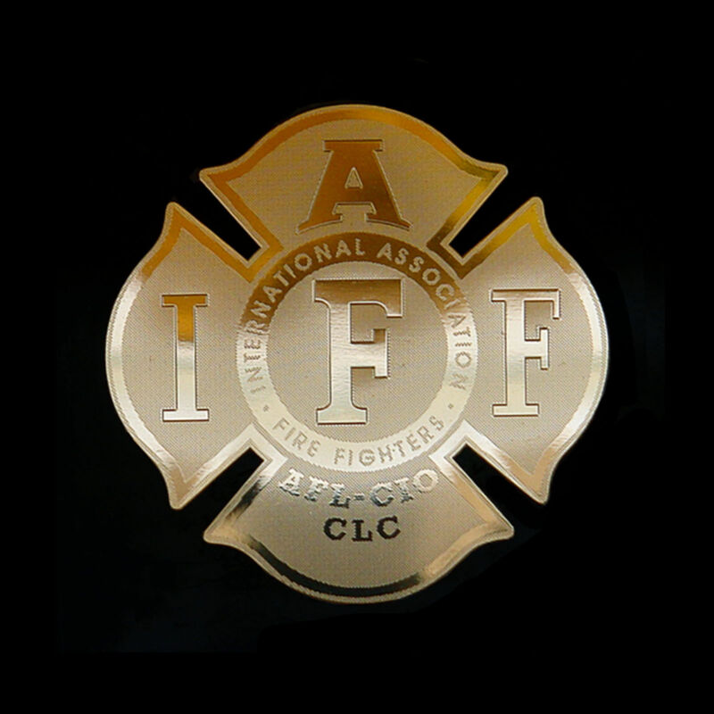 IAFF Firefighter Logo Emblem Metal Decal sticker laptop computer case modding