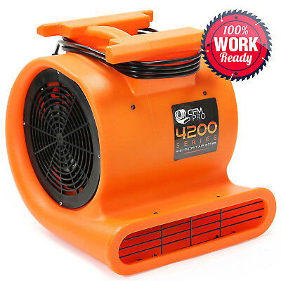 Air Mover 3 Speed 1 Hp Blower Fan - Stackable - Industrial - Orange