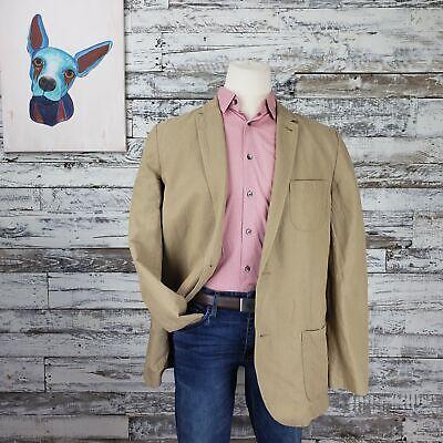 Gap Mens Linen Blazer Sport Coat Linen Cotton Blend Tan Size XXL Tall Blend Mens Sport Coat