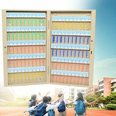 Business Commercial Key Cabinet Storage Lock Box Safe Wall Mount Holder 100 Keys