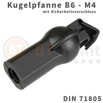 Winkel Ball (Kugelpfanne Kunststoff B6 M4 DIN 71805 Sicherheitsverschluss Kugel Pfanne Kopf)