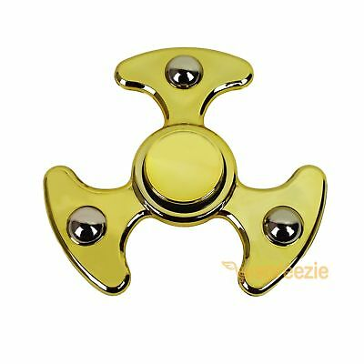 Metallic GOLD Hand Spinner Fidget Spinner Toy Anxiety Stress Relief Focus ADHD