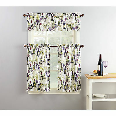 Grapes Window (Wine Country & Grapes Elites 3 Piece Window Set 1 Valance and 2 Tiers)