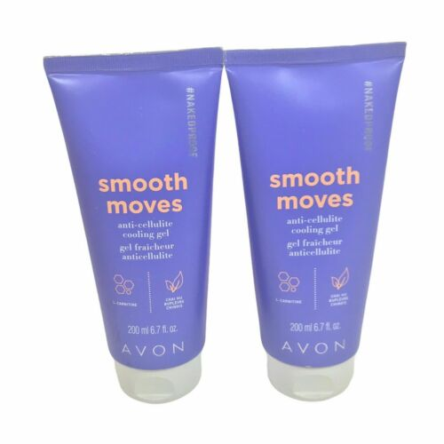 Lot of 2 Avon Smooth Moves #NAKEDPROOF Anti-Cellulite Cooling Gel (6.7 fl oz)