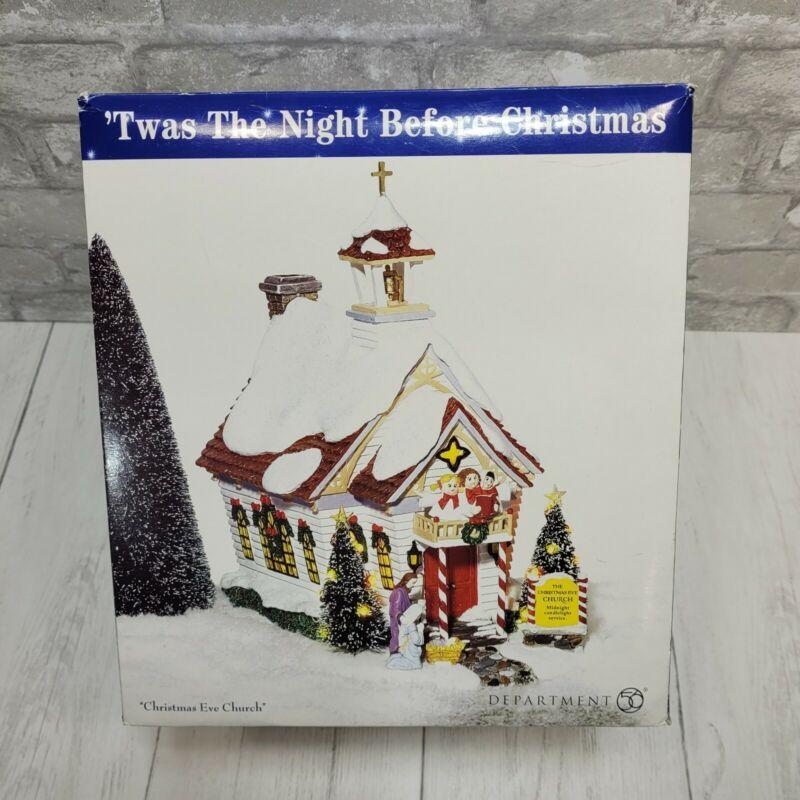"Department 56 Twas the Night Before Christmas ""Christmas Eve Church"" 2003 Xmas"