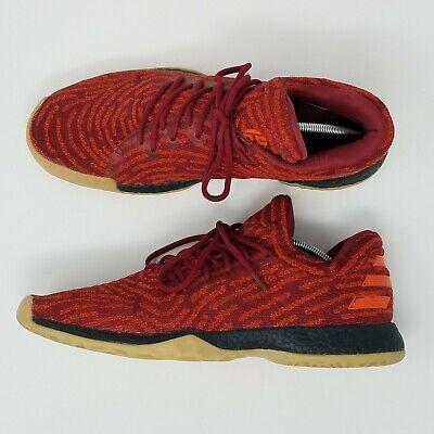 Men's Adidas James Harden Vol. 1 PK LS Primeknit Sz 13 Red Gum Basketball Shoes