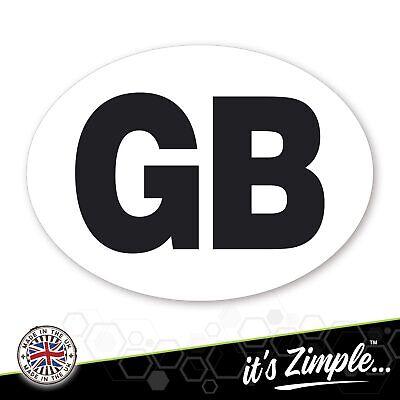 GB CAR STICKERS oval Euro EU car van lorry vinyl self-adhesive GB sticker