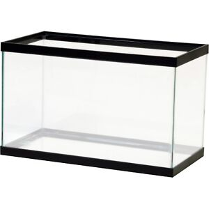 10 GALLON GLASS TANK WITH LID