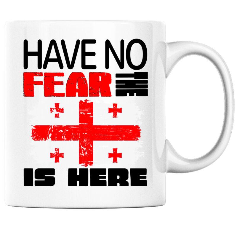 Have No Fear the Georgian is Here Funny Coffee Mug Georgia Heritage Pride