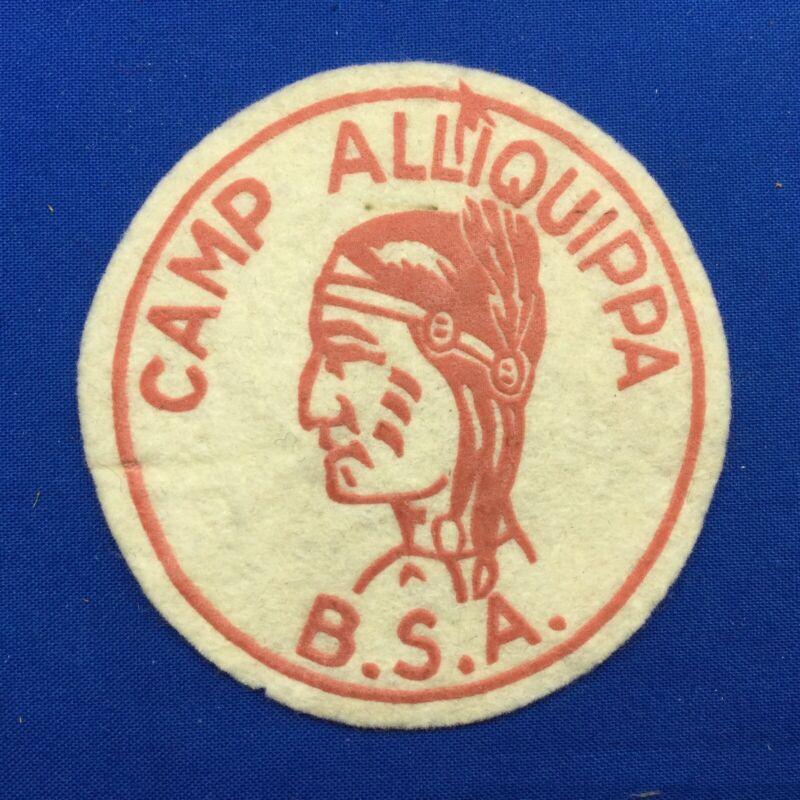 Boy Scout Camp Alliquippa B.S.A. Felt Patch