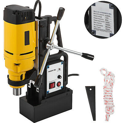 1350w Md-25 Magnetic Base Drill Press 25mm Boring 15000n Magnet Force Tapping