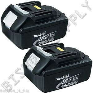 2pc Genuine Makita BL1830 18V LXT Lithium-Ion Battery Pack 3.0Ah NEW 2014 Date