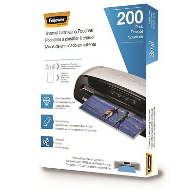 Fellowes Thermal Laminating Pouches Letter Size Sheets 9 X 11.5-inches 3 Mi...