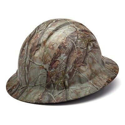 Pyramex Hp54119 Ridgeline Matte Camo Full Brim Hard Hat W4 Pt. Ratchet Susp