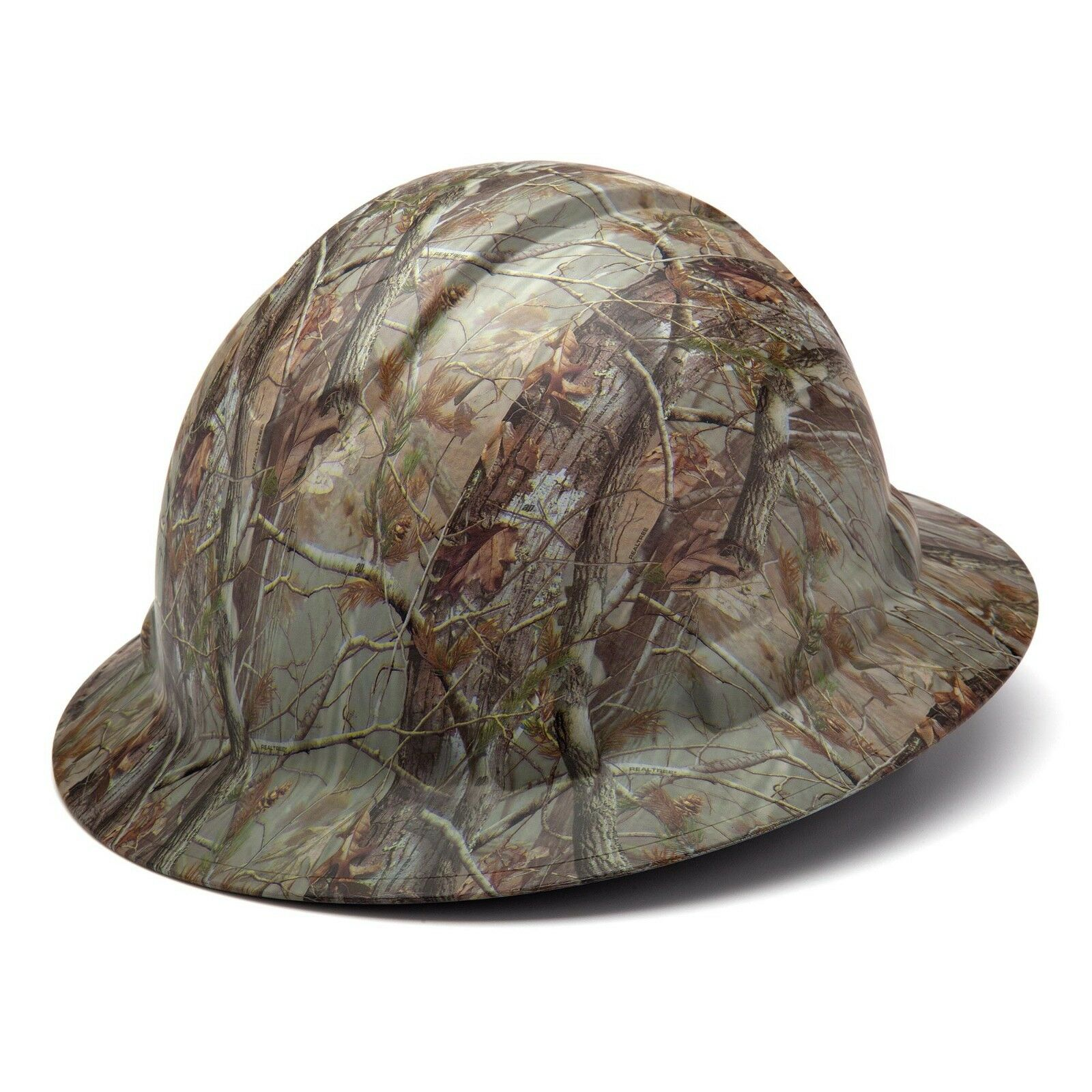 Pyramex HP54119 Ridgeline Matte CAMO Full Brim Hard Hat W/4 Pt. Ratchet Susp Business & Industrial