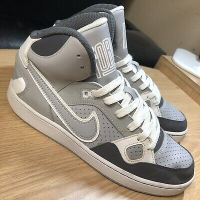Nike Son of Force Mid Basketball Shoes (615158-020) Grey/White - Size 7Y